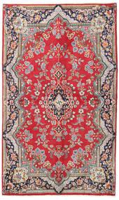 Kerman Matto 135X225 Itämainen Käsinsolmittu Punainen/Vaaleanruskea (Villa, Persia/Iran)