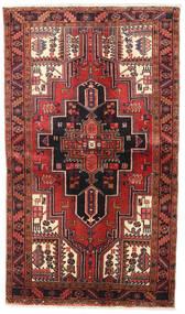 Heriz Matto 128X217 Itämainen Käsinsolmittu Tummanpunainen/Tummanruskea (Villa, Persia/Iran)