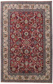 Yazd Patina Matto 198X312 Itämainen Käsinsolmittu Tummanruskea/Tummanpunainen (Villa, Persia/Iran)