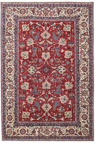 Yazd Patina Matto 200X300 Itämainen Käsinsolmittu Vaaleanharmaa/Tummanpunainen (Villa, Persia/Iran)