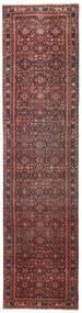 Hosseinabad Patina Matto 79X317 Itämainen Käsinsolmittu Käytävämatto Tummanpunainen/Tummanruskea (Villa, Persia/Iran)