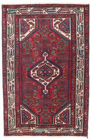 Hamadan Patina Matto 100X153 Itämainen Käsinsolmittu Tummanvioletti/Tummanpunainen (Villa, Persia/Iran)