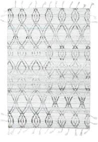Pet Yarn Kelim Matto 164X240 Moderni Käsinkudottu Vaaleanharmaa/Valkoinen/Creme ( Intia)