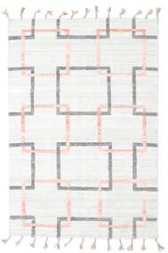 Pet Yarn Kelim Matto 157X233 Moderni Käsinkudottu Valkoinen/Creme/Beige ( Intia)