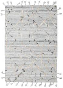 Pet Yarn Kelim Matto 162X238 Moderni Käsinkudottu Vaaleanharmaa/Beige ( Intia)