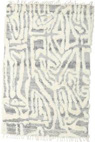 Barchi/Moroccan Berber - Indo Matto 153X235 Moderni Käsinsolmittu Vaaleanharmaa/Valkoinen/Creme/Beige (Villa, Intia)