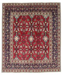 Tabriz Patina Matto 195X232 Itämainen Käsinsolmittu Tummanvioletti/Punainen (Villa, Persia/Iran)