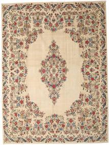 Kerman Patina Matto 308X410 Itämainen Käsinsolmittu Vaaleanruskea/Beige Isot (Villa, Persia/Iran)