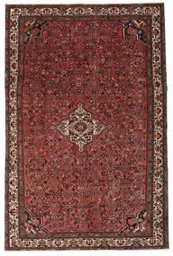 Hosseinabad Patina Matto 214X326 Itämainen Käsinsolmittu Tummanpunainen/Tummanruskea (Villa, Persia/Iran)