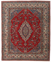 Hamadan Patina Matto 240X295 Itämainen Käsinsolmittu Tummanpunainen/Tummanruskea (Villa, Persia/Iran)