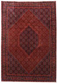 Bidjar Zanjan Matto 253X365 Itämainen Käsinsolmittu Tummanpunainen/Musta Isot (Villa, Persia/Iran)