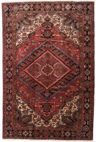 Heriz Matto 215X318 Itämainen Käsinsolmittu Tummanpunainen/Tummanruskea (Villa, Persia/Iran)