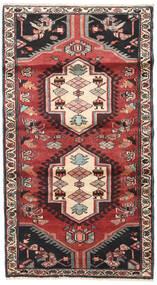 Hamadan Matto 110X200 Itämainen Käsinsolmittu Tummanruskea/Tummanpunainen (Villa, Persia/Iran)