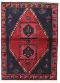 Klardasht Matto 105X140 Itämainen Käsinsolmittu Musta/Punainen (Villa, Persia/Iran)
