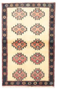Klardasht Matto 97X150 Itämainen Käsinsolmittu Beige/Musta (Villa, Persia/Iran)