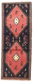 Klardasht Matto 75X190 Itämainen Käsinsolmittu Käytävämatto Tummanharmaa/Tummanpunainen (Villa, Persia/Iran)