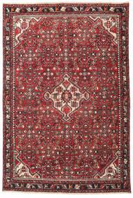 Hamadan Patina Matto 135X202 Itämainen Käsinsolmittu Tummanruskea/Punainen (Villa, Persia/Iran)