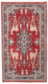 Mashad Patina Matto 104X182 Itämainen Käsinsolmittu Punainen/Tummanharmaa (Villa, Persia/Iran)