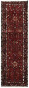 Heriz Matto 100X318 Itämainen Käsinsolmittu Käytävämatto Tummanpunainen/Tummanharmaa (Villa, Persia/Iran)