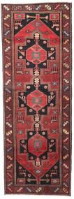 Hamadan Patina Matto 102X287 Itämainen Käsinsolmittu Käytävämatto Tummanpunainen/Musta (Villa, Persia/Iran)