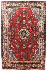 Hamadan Patina Matto 130X200 Itämainen Käsinsolmittu Tummanpunainen/Tummanruskea (Villa, Persia/Iran)