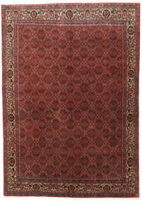 Bidjar Zanjan Matto 202X288 Itämainen Käsinsolmittu Tummanpunainen/Tummanruskea (Villa, Persia/Iran)