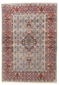Moud Matto 80X114 Itämainen Käsinsolmittu Vaaleanharmaa/Tummanruskea (Villa/Silkki, Persia/Iran)