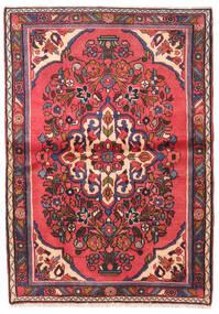 Hamadan Matto 97X140 Itämainen Käsinsolmittu Tummanruskea/Tummanpunainen (Villa, Persia/Iran)