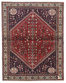 Abadeh Matto 100X128 Itämainen Käsinsolmittu Tummanruskea/Tummanpunainen (Villa, Persia/Iran)