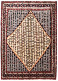 Hamadan Matto 203X287 Itämainen Käsinsolmittu Tummanruskea/Beige (Villa, Persia/Iran)