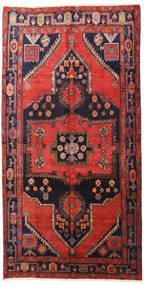 Hamadan Matto 160X313 Itämainen Käsinsolmittu Käytävämatto Tummanpunainen/Musta (Villa, Persia/Iran)