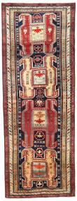 Ardebil Matto 114X307 Itämainen Käsinsolmittu Käytävämatto Tummanpunainen/Tummanharmaa (Villa, Persia/Iran)