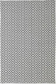 Torun - Musta/Neutral Matto 200X300 Moderni Käsinkudottu Tummanharmaa/Beige (Puuvilla, Intia)
