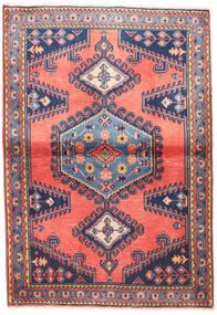Wiss Matto 100X145 Itämainen Käsinsolmittu Vaaleanpunainen/Tummanvioletti (Villa, Persia/Iran)