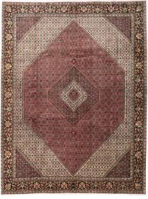 Bidjar Matto 303X396 Itämainen Käsinsolmittu Tummanpunainen/Tummanruskea Isot (Villa, Persia/Iran)