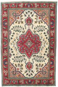 Tabriz Patina Matto 95X145 Itämainen Käsinsolmittu Beige/Musta (Villa, Persia/Iran)