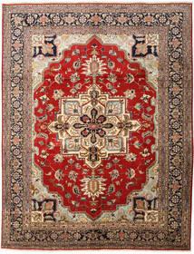 Heriz Matto 310X398 Itämainen Käsinsolmittu Tummanruskea/Vaaleanruskea Isot (Villa, Persia/Iran)