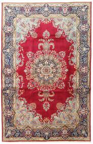 Kerman Matto 198X307 Itämainen Käsinsolmittu Tummanpunainen/Beige (Villa, Persia/Iran)