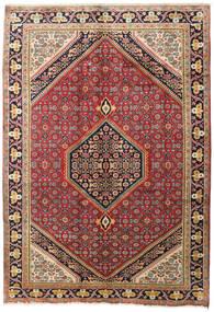 Zanjan Matto 200X288 Itämainen Käsinsolmittu Tummanpunainen/Tummanruskea (Villa, Persia/Iran)