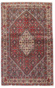 Bidjar Matto 90X143 Itämainen Käsinsolmittu Tummanpunainen/Tummanruskea (Villa, Persia/Iran)