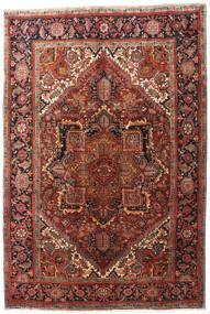 Heriz Matto 195X290 Itämainen Käsinsolmittu Tummanruskea/Tummanpunainen (Villa, Persia/Iran)