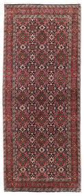 Bidjar Matto 85X202 Itämainen Käsinsolmittu Käytävämatto Tummanpunainen/Musta (Villa, Persia/Iran)