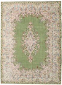 Kerman Patina Matto 298X404 Itämainen Käsinsolmittu Vaaleanharmaa/Vaaleanvihreä Isot (Villa, Persia/Iran)
