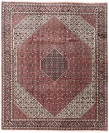 Bidjar Matto 248X296 Itämainen Käsinsolmittu Tummanruskea/Tummanpunainen (Villa, Persia/Iran)