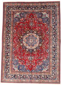 Mashad Matto 242X340 Itämainen Käsinsolmittu Tummanpunainen/Beige (Villa, Persia/Iran)