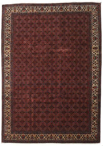 Bidjar Silkillä Matto 259X357 Itämainen Käsinsolmittu Tummanpunainen/Tummanruskea Isot (Villa/Silkki, Persia/Iran)