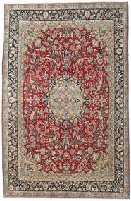 Kerman Patina Matto 248X387 Itämainen Käsinsolmittu Tummanpunainen/Vaaleanharmaa (Villa, Persia/Iran)