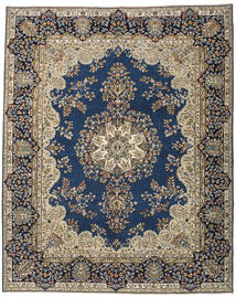 Kerman Patina Matto 247X305 Itämainen Käsinsolmittu Tummanharmaa/Vaaleanharmaa (Villa, Persia/Iran)