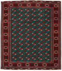 Turkaman Patina Matto 293X338 Itämainen Käsinsolmittu Tummanpunainen/Tummanruskea Isot (Villa, Persia/Iran)