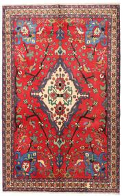 Nahavand Matto 160X253 Itämainen Käsinsolmittu Punainen/Tummanpunainen (Villa, Persia/Iran)